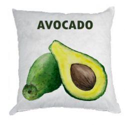 Подушка Avocado watercolor