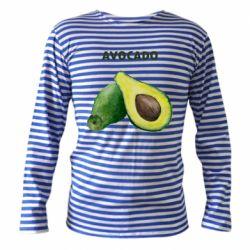 Тельняшка с длинным рукавом Avocado watercolor