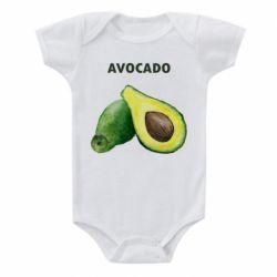 Детский бодик Avocado watercolor