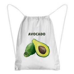 Рюкзак-мешок Avocado watercolor