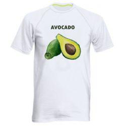 Мужская спортивная футболка Avocado watercolor