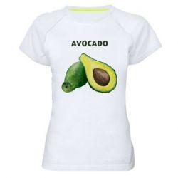 Женская спортивная футболка Avocado watercolor