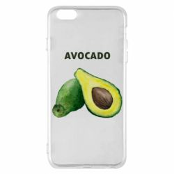 Чехол для iPhone 6 Plus/6S Plus Avocado watercolor