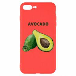 Чехол для iPhone 7 Plus Avocado watercolor