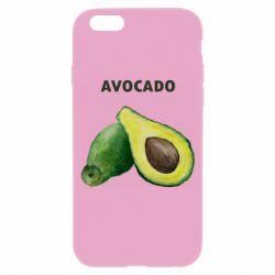 Чехол для iPhone 6/6S Avocado watercolor