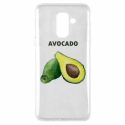 Чехол для Samsung A6+ 2018 Avocado watercolor