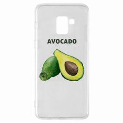 Чехол для Samsung A8+ 2018 Avocado watercolor