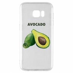 Чехол для Samsung S7 EDGE Avocado watercolor