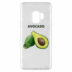 Чехол для Samsung S9 Avocado watercolor