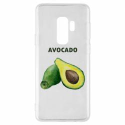 Чехол для Samsung S9+ Avocado watercolor
