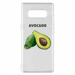 Чехол для Samsung Note 8 Avocado watercolor