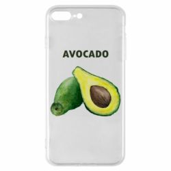 Чехол для iPhone 8 Plus Avocado watercolor