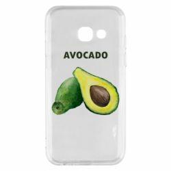 Чехол для Samsung A3 2017 Avocado watercolor