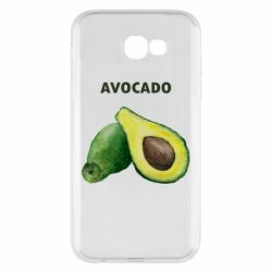Чехол для Samsung A7 2017 Avocado watercolor