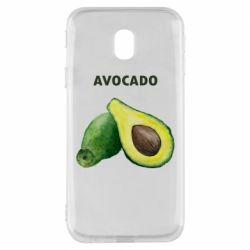Чехол для Samsung J3 2017 Avocado watercolor