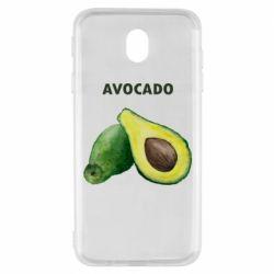 Чехол для Samsung J7 2017 Avocado watercolor