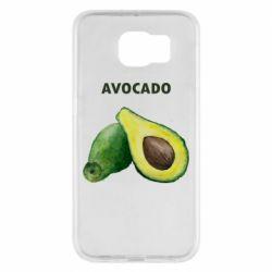 Чехол для Samsung S6 Avocado watercolor