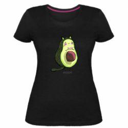 Женская стрейчевая футболка Avocat - FatLine