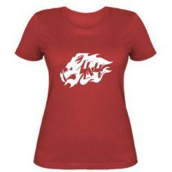 Женская футболка Авто графика