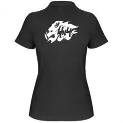 Женская футболка поло Авто графика