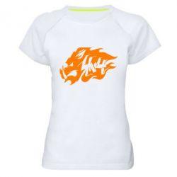 Женская спортивная футболка Авто графика