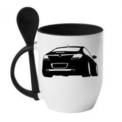 Кружка с керамической ложкой Авто