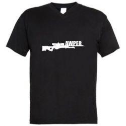 Чоловіча футболка з V-подібним вирізом Aweper