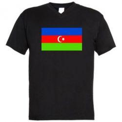 Мужская футболка  с V-образным вырезом Азербайджан - FatLine