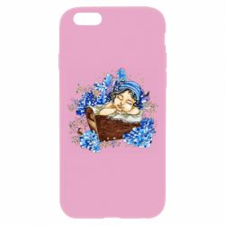 Чехол для iPhone 6 Plus/6S Plus Baby among the violets