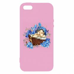 Чехол для iPhone5/5S/SE Baby among the violets