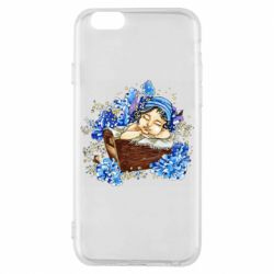 Чехол для iPhone 6/6S Baby among the violets