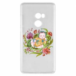 Чехол для Xiaomi Mi Mix 2 Baby and flowers