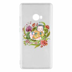 Чехол для Xiaomi Mi Note 2 Baby and flowers