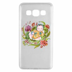 Чехол для Samsung A3 2015 Baby and flowers