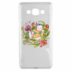 Чехол для Samsung A5 2015 Baby and flowers