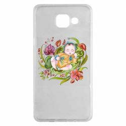 Чехол для Samsung A5 2016 Baby and flowers