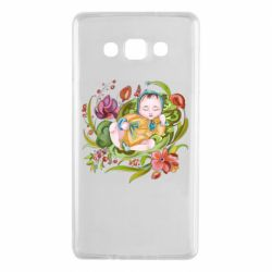 Чехол для Samsung A7 2015 Baby and flowers