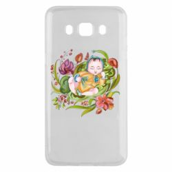 Чехол для Samsung J5 2016 Baby and flowers