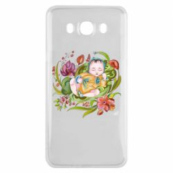 Чехол для Samsung J7 2016 Baby and flowers