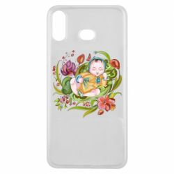 Чехол для Samsung A6s Baby and flowers