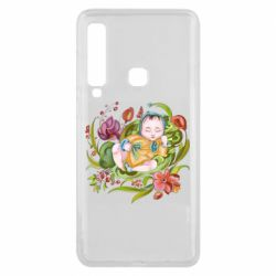 Чехол для Samsung A9 2018 Baby and flowers