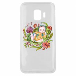 Чехол для Samsung J2 Core Baby and flowers