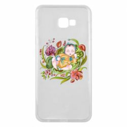Чехол для Samsung J4 Plus 2018 Baby and flowers