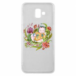 Чехол для Samsung J6 Plus 2018 Baby and flowers