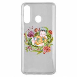 Чехол для Samsung M40 Baby and flowers
