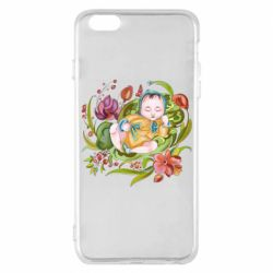 Чехол для iPhone 6 Plus/6S Plus Baby and flowers
