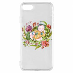 Чехол для iPhone 7 Baby and flowers