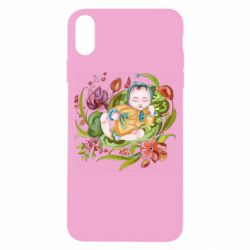 Чехол для iPhone X/Xs Baby and flowers