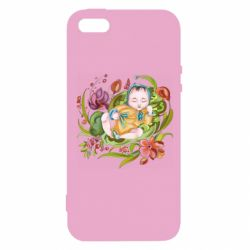 Чехол для iPhone5/5S/SE Baby and flowers