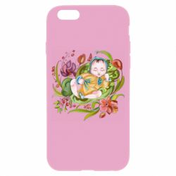 Чехол для iPhone 6/6S Baby and flowers